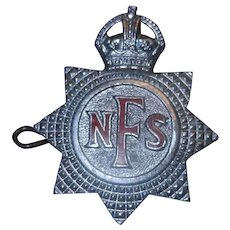 Original National Fire Service Kings Brigade Cap Badge