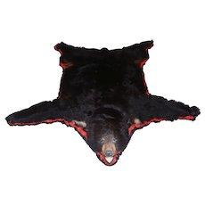 Black Bear Full-Size Taxidermy Rug -Floor or Wall Display
