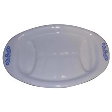 Vintage Corn Flower Blue Corning Ware P-19 Meat Platter