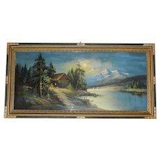 Original Framed William Henry Chandler Pastel- Lakeside Home