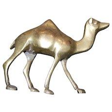 Vintage Solid Brass Camel