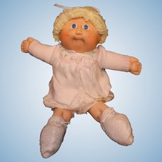 Vintage Coleco 1978-1982 Blonde with Short Hair Cabbage Patch Kid Dolls with Blue Eyes