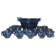 Vintage Harvest Carnival Princess Blue 32 Piece Punch Set