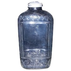 Vintage Water or Juice Bottle with Automatic Bottle Cap circa 1930's