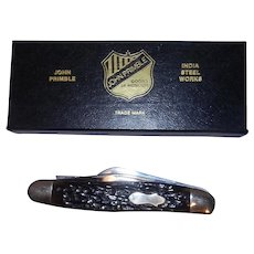 Vintage 1988 John Primble India Steel Works 5330 Stockman Knife –NIB- Bone Handle