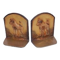 Vintage Cast Iron Terrier Bookends