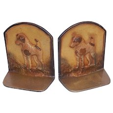 Vintage Cast Iron Terrier Bookends