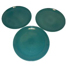 "Vintage Iroquois Casual Turquoise/Aqua 10 1/8"" Dinner Plates"