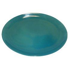 "Vintage Iroquois Casual Turquoise/Aqua 12 5/8"" Oval Platter"
