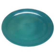"Vintage Iroquois Casual Turquoise/Aqua 14 ¼"" Oval Platter"