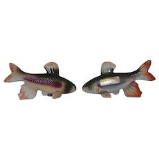 Vintage Mid-Century Japan Trout Fish Salt Pepper Shaker Set