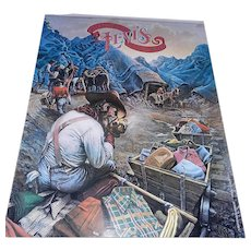 Vintage 70's Levi's Advertising Poster Mountains and Miners with Jeans