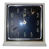 Vintage 1954-57 Westclox USA Mascot Wind-Up Alarm Clock