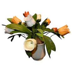 Vintage Ceramic Tulip Flower Arrangement