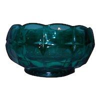 Vintage Tiara Spruce Green Constellation Pattern Nut Bowl