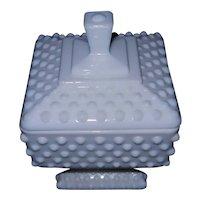 Vintage Fenton Hobnail Milk Glass Candy Dish