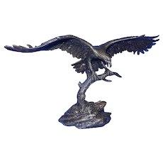 Vintage 1992 Sovereign of the Skies Signed Ronald Van Ruyckevelt Bronze Eagle