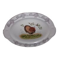 Vintage Oval Transferware Turkey Platter attributed to Knowles