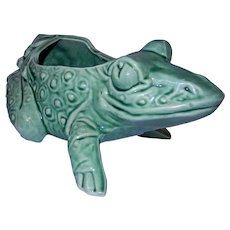 Vintage 1950's McCoy USA Green Frog Planter