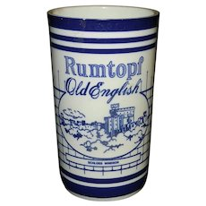 Vintage Rumtopf Old English Pot Blue & White Pattern with Two Famous Places in England