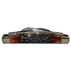 Vintage Ka-Bar USC 88 Red Bone 4 Blade Congress Pocket Knife