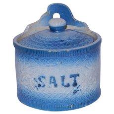 Antique Stoneware Crock Salt Container