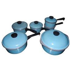 Vintage 12 Piece Blue Club Aluminum Cookware Set
