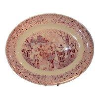 "Vintage Mid-Century 22"" Homer Laughlin Bountiful Harvest Oval Turkey or Ham Serving Platter"
