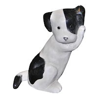 Vintage MCF Black and White Puppy Doorstop