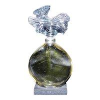 "Vintage 1974 Guerlain Parure Display Empty Bottle Glass Stopper – 5 ¾"""
