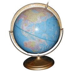 "Vintage Cram's Scope of Sphere 12"" Globe – Circa 1948-1953 Indiana"