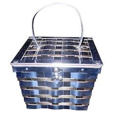 Vintage Dorset Rex Fifth Ave, 1950s Metal Basket Weave Box Purse