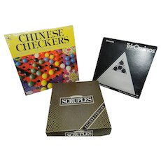 Vintage Board Games- Scruples, Chinese Checkers, Tri-Ominos