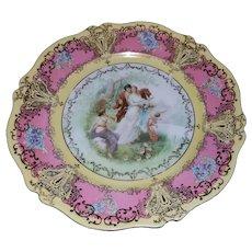 Vintage O & E.G. Austria Royal China Cabinet Plate