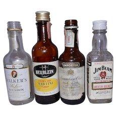Vintage Airline Miniature Liquor Bottles