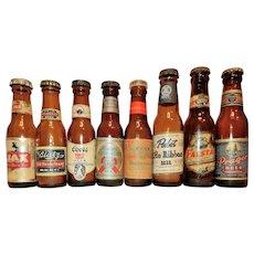 Vintage 1950's-60's Miniature Beer Bottles/Salt & Pepper Shakers