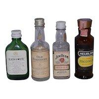 Vintage Miniature Airline Liquor Bottles