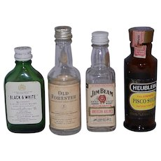 Vintage Miniature Airline Liquor Bottles