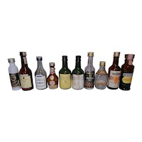 Vintage Foreign and Domestic Miniature Liquor Bottles