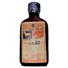 Vintage White Horse Cellar Miniature Scotch Whiskey Bottle circa 1930'-50's