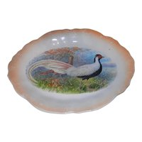 Vintage George Borgfeldt & Co Porcelain Platter with Silver Pheasant