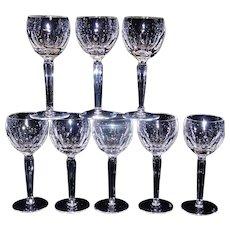 Vintage Rare Waterford Dunloe Crystal Wine Hocks