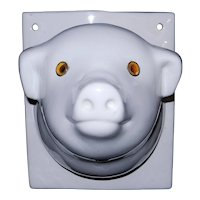 Vintage Ceramic Pig's Head Apron or Towel Rack