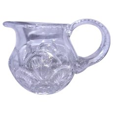 Vintage Heavy Leaded Crystal 2 Quart Pitcher with Fan Pattern