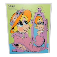Vintage 1983 Playskool Henson Baby Miss Piggy Puzzle Ages 2-4