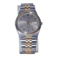 Vintage SEIKO Men's Quartz Day Date Gold Tone Watch 5H23-7900A1