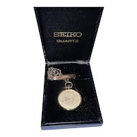 Vintage Seiko Gold Tone Pocket Watch 7430- United States Air Force