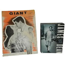 Vintage 1956 Giant (This Then is Texas) Sheet Music by M. Witmark & Sons, New York Plus The Complete James Dean Collection DVD