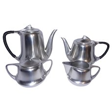 Vintage Metawa Holland Real Pewter Etain Pur Coffee Pot, Teapot, Sugar and Creamer