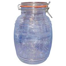 Vintage 1966 Uncle Ezra's Cracker Barrel Assortment Cookie Jar made in Italy